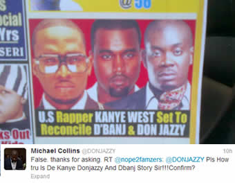 Magazine and Don Jazzy's Tweet