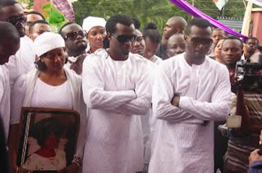 Burial Photos of Psquare's Mother