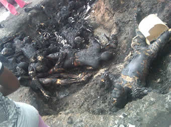 Photos from the Tanker Explosion in Rivers State