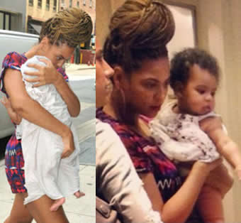 Beyonce and her daughter Ivy