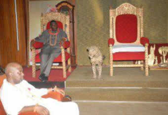 Jonathan Waiting For Oba of Benin