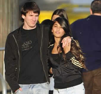 Messi and His Girlfriend
