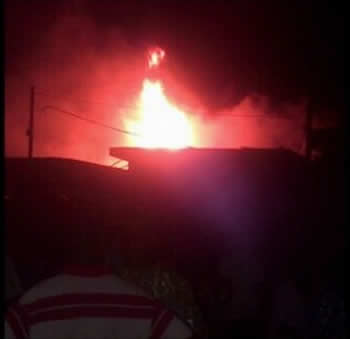 Photo: Alade Market Gutted By Fire