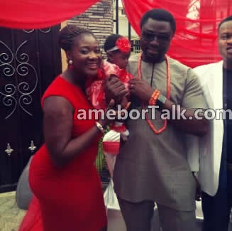Actress Mercy Johnson with Husband and Daughter