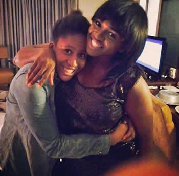 Singer Waje and her Daughter