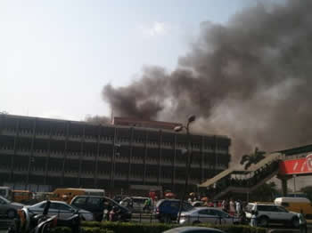 Fire at M-NET Office Ojoto