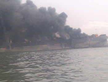 Explosion at Tin Can Island Lagos