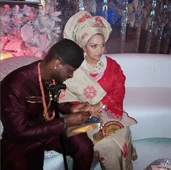 Psquare Peter Okoye and Lola Omotayo Wedding Photo