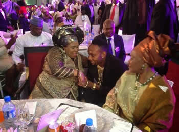 Kcee with First Lady and Vice President's Wife