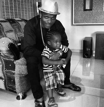 Photo of Wizkid and his Son