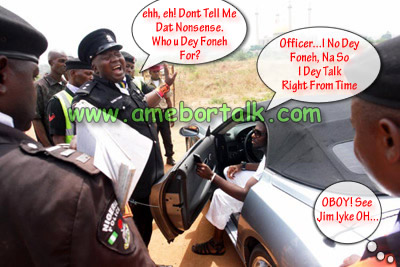 Jim Iyke With Police Officer
